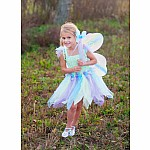 Butterfly Dress w/Wings & Wand, Green/5-6