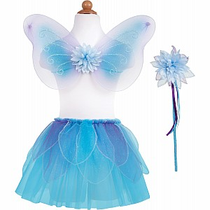 Fancy Flutter Skirt Sets with Wings & Wands