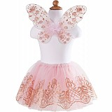 Rose Gold Tutu & Wings Set