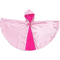 Rev. Hooded Princess Cape (light Hot Pink, MD)