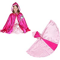 Rev. Hooded Princess Cape (light  Hot Pink, MD