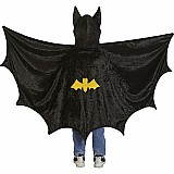Bat Cape With Hood Size 5-6