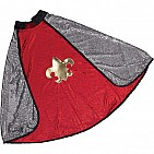 King Knight Cape Red Silver Reversible