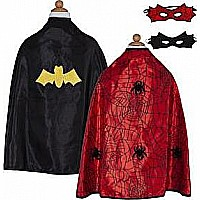 Reversible Spider/Bat Cape, Sm with Mask
