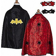 Rev. Spider Bat Cape (red Black, SM