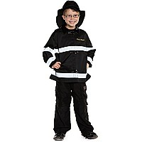Fireman Set (coat Hat Black, MD