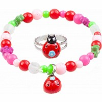 My Fair Lady Bug Bracelet & Ring Set
