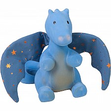 Midnight Blue Rubber Dragon Rattle