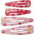 4-pc Daisy Print Snap Clip Set