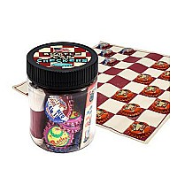 Bottle Cap Checkers Jar
