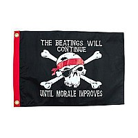 Beatings Will Continue Pirate Flag