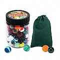 Marbles Toy Jar With Color Canvas Pouch