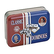 Dominoes In A Classic Toy TIN