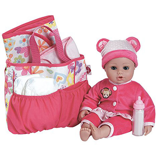 Adora Baby Doll Diaper Bag Accessories With 5 Piece Changing Set