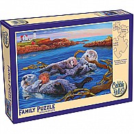 350 pc Family Puzzle Sea Otters