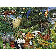 350 pc Family Puzzle Noah's Gathering