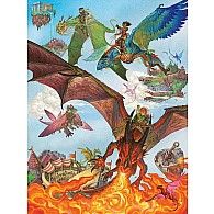 350 pc Family Puzzle Dragon Flight