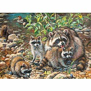 Cobble Hill 350pc Family Puzzle Raccoon Family