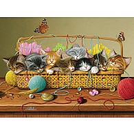 350 pc Family Puzzle Basket Case
