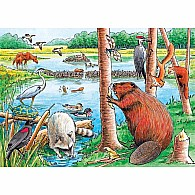 35 pc Tray Puzzle Beaver Pond