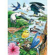 35 pc Tray Puzzle North American Birds