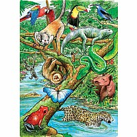 35 pc Tray Puzzle Life In A Tropical Rainforest