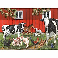 35 pc Tray Puzzle Red Barn Farm