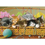 Kittens in Basket Tray Puzzle