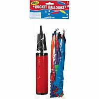 40PC ROCKET BALLOON W/ PUMP