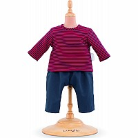 "Corolle 12"" Striped T-Shirt & Pants"