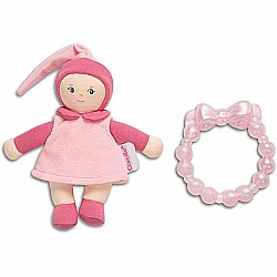Corolle Babicorolle Pink Mini Miss & Baby Teether