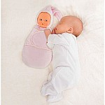 Corolle Mon Doudou Corolle Babiswaddle Pink Cotton Flower
