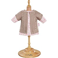 Corolle Mademoiselle Corolle Pink Dress & Cardigan Set