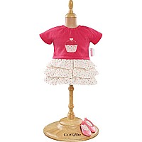 "14"" Mademoiselle Ruffle Dress & Shoes Set"