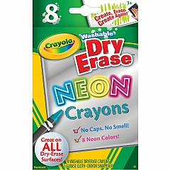 8 Ct. Dry-Erase Crayons, Neon, Large Size