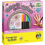 Creativity for Kids Color-in-Glitter Tattoos