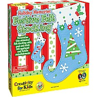 Holiday Memories Festive Felt Stocking