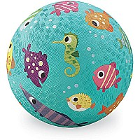 Crocodile Creek Fish Turquoise Playground Ball 5 inches