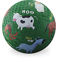 Crocodile Creek Barnyard Green Playground Ball 5 inches