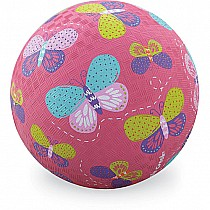 5 inch Pink Butterflies Playground Ball