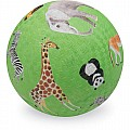 "Playground Ball Green Wild Animals - small (5"")"