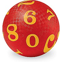 "5"" Playball/ Numbers Red"