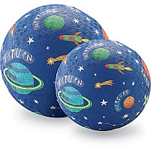 Crocodile Creek Solar System Blue Playground Ball 7 inches