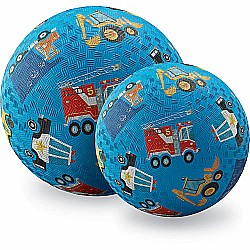 Crocodile Creek Vehicles Blue Playground Ball 7 inches
