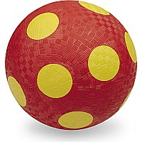 "7"" Playground Ball Loose  Red-Yellow Dots"