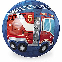 Crocodile Creek Fire Truck Blue Playball 6 inches