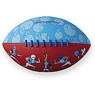 Crocodile Creek Football Players Patterned Blue/Red Kid-Sized Football 8 inches