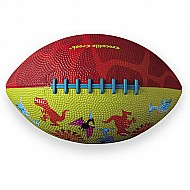 Crocodile Creek Dinosaurs Patterned Lime Green/Red Kid-Sized Football 8 inches