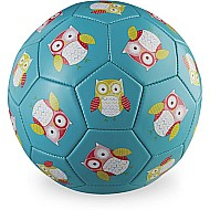 Crocodile Creek Owl Turquoise Kids Soccer Ball Size 3, 7 inches