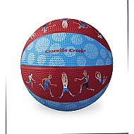 Crocodile Creek Basketball Players Patterned Blue/Red Kid-Sized Basketball 5.5 inches